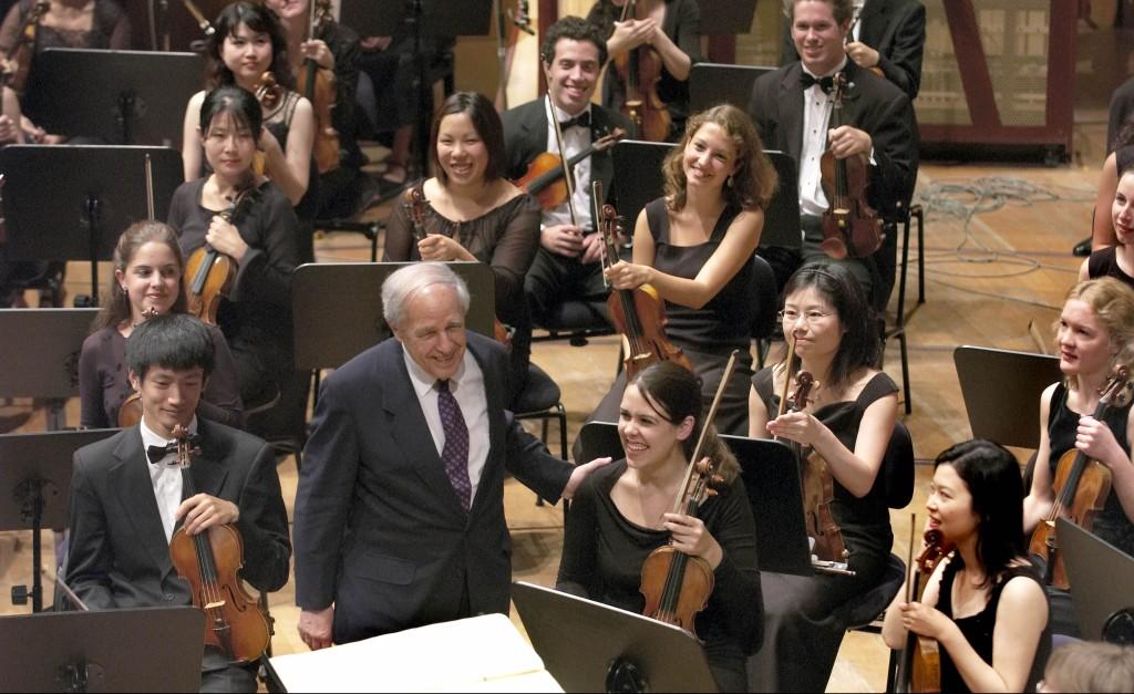 Lucerne Festival 05, Sommer: Sinfoniekonzert 27, Lucerne Festival Academy Orchestra unter der Leitung von Pierre Boulez; 09.09.05 Foto: Priska Ketterer Luzern